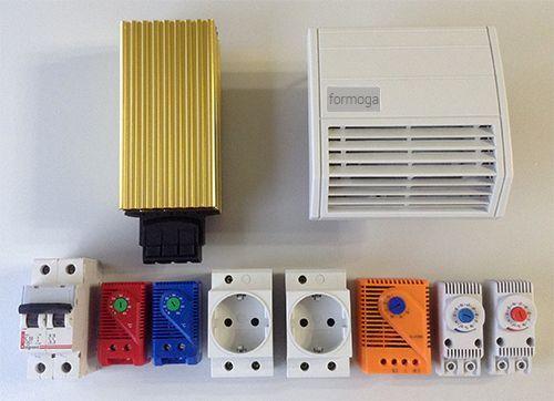 Комплектация термошкафов серии НТГВ