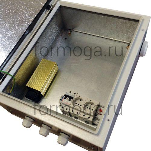Шкаф монтажный с обогревом ТШ-5-Н 500х400х200 сбоку