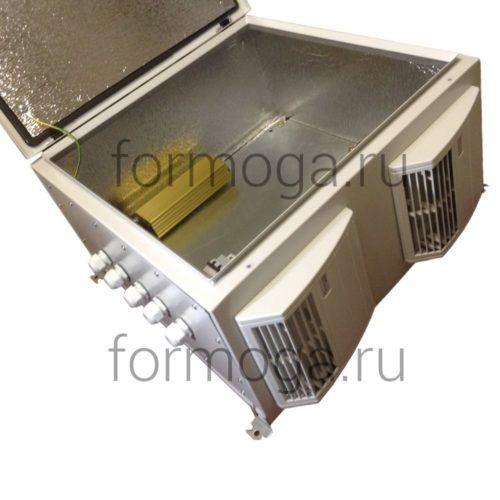 Шкаф с обогревом и вентиляцией ТШ-3-НВ-600х600х300 сбоку